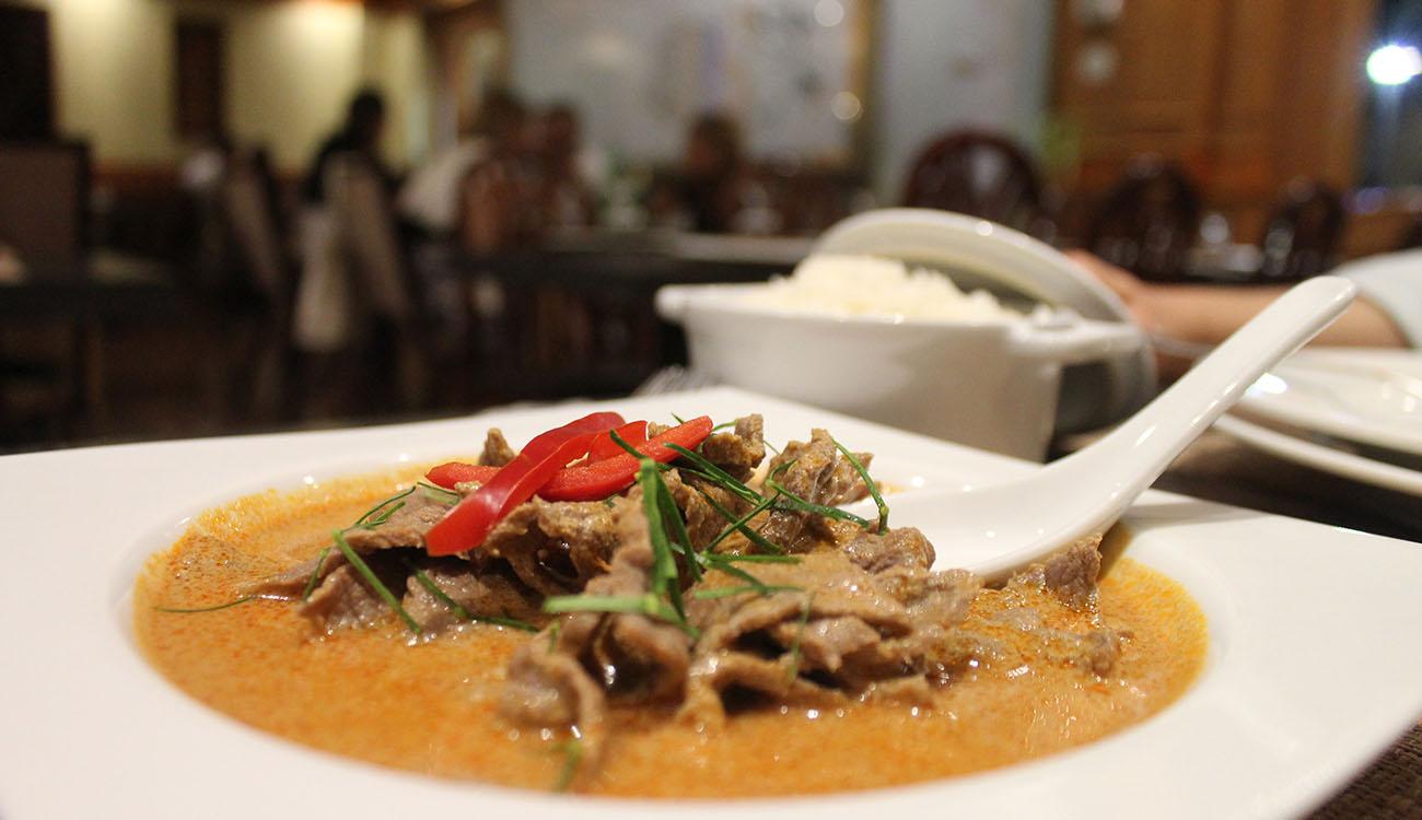 Sukhothai Ristorante Thailandese a Roma – curry di manzo
